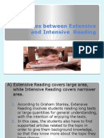 Differences Between Extensive and Intensive Reading