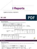 Payroll Summary Report PDF Template Free Download