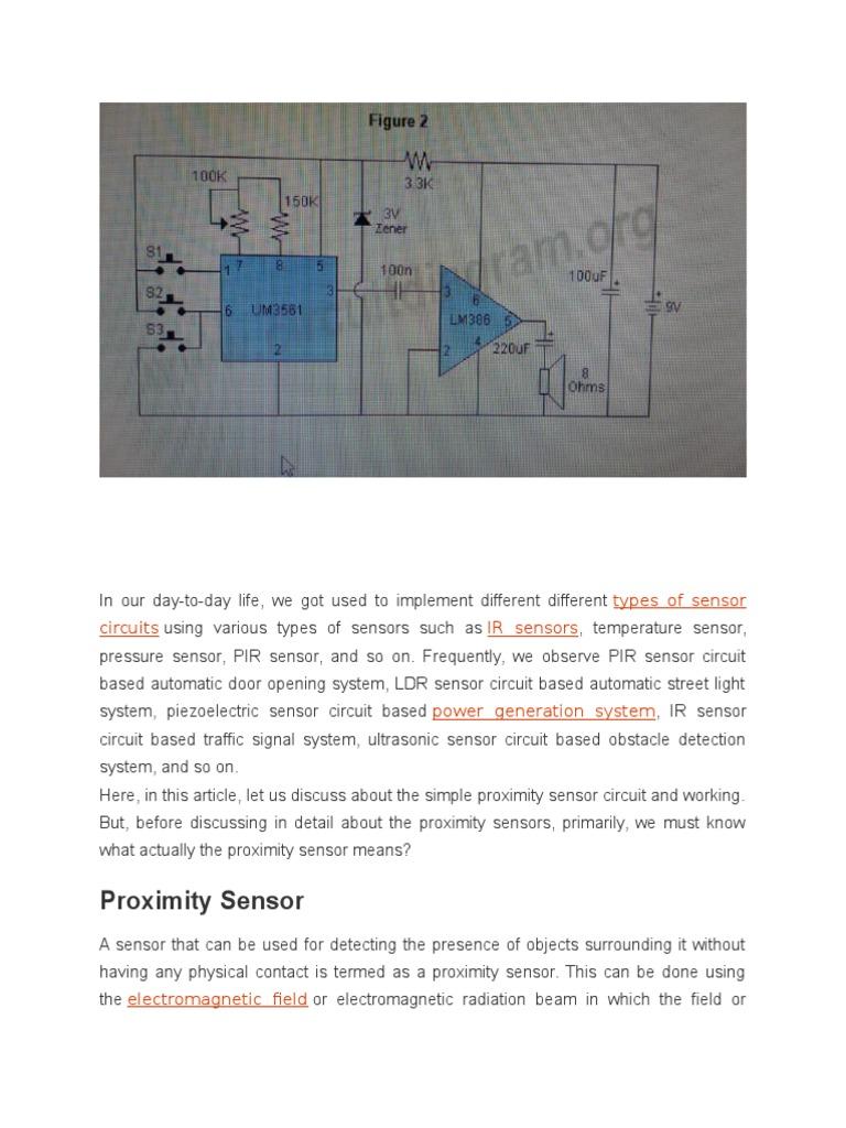Sound Generation Inductor Amplitude Voice Warning Circuit Diagram Sensorcircuit