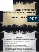 Research and Statistical Methods for Gym Business