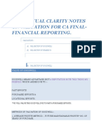 Valuation Notes for Financial Reporting CA Final May 2014