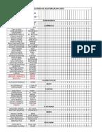 Listado de Asistencia 2014-2015