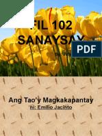 Ang Taoy Magkakapantay ni Emilio Jacinto