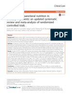 Enteral Versus Parenteral Nutrition in Critically Ill Patients- An Updated Systematic Review and Meta-Analysis of Randomized Controlled Trials