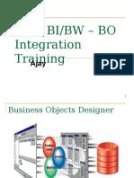 SAP BI_BW – BO Integration