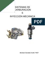 Carburación Inyección Mecanica Abraham Glez Coello 1aut