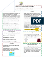 Curriculum Newsletter (Year 1 Summer 1)