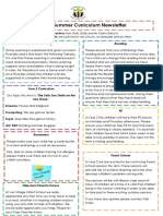 Curriculum Newsletter (Year 2 Summer 1)