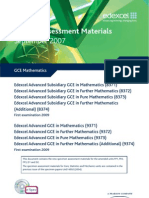 New GCE Sample Assesment Materials Mathematics
