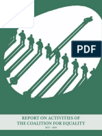 Report On Activities Of The Coalition For Equality - 2015–2016