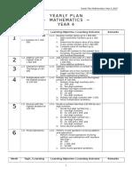 Yearly Plan Maths 4sklp
