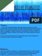 13 categories of disabilities