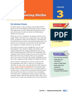interview chapter skills
