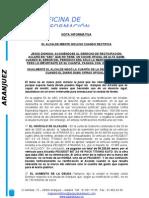 EL ALCALDE MIENTE INCLUSO CUANDO RECTIFICA