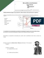 Ficha Trabalho - Sistema neuro-hormonal