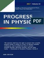 PROGRESS IN PHYSICS. Vol. 2/2017