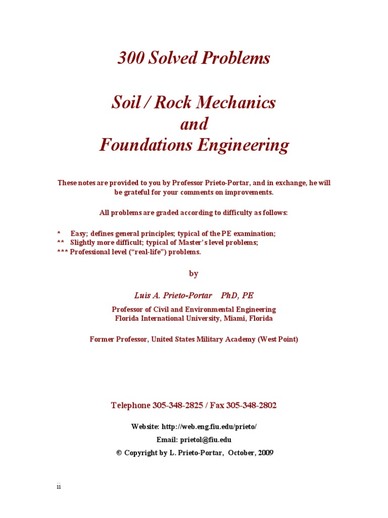 300 solved problems in geotechnical engineering.pdf | Deep Foundation |  Foundation (Engineering)