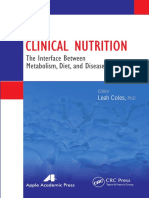 Clinical Nutrition the Interface Between Metabolism, Diet, And Disease