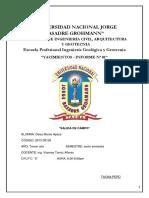 Informe de Yacimientos Minerales - Palquilla