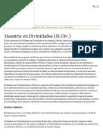 Maestría en Divinidades (M.div
