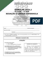 Espanhol 1º Dia Da 2ª Fase Gabarito 1 de 2016.2