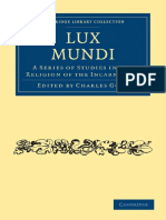 (Cambridge Library Collection - Religion) Charles Gore-Lux Mundi_ a Series of Studies in the Religion of the Incarnation-Cambridge University Press (2009)