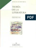 Aguiar E Silva, Vitor Manuel (DE). Teoría de La Literatura