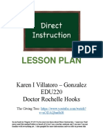 direct instructional lesson plan