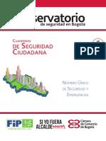 Cuaderno de Seguridad Ciudadana 1. Número Único de Seguridad y Emergencias-NUSE 123