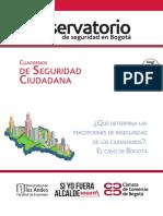 Cuaderno de Seguridad Ciudadana 7. Qué Determina Las Percepciones de Inseguridad de Los Ciudadanos