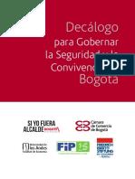 Decalogo de Seguridad en Bogota