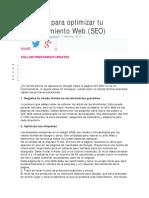 10 Trucos Para Optimizar Tu Pagina Web