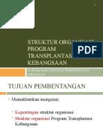 Struktur Organisasi Program Transplantasi Kebangsaan