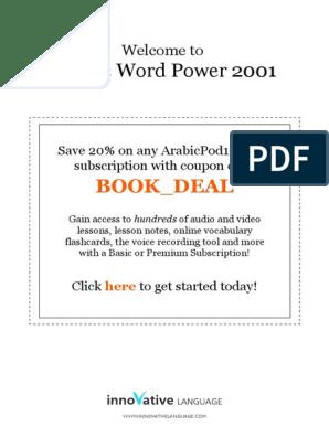 Learn Arabic - Vocabulary2001 - 2001 pdf | Glasses | Jeans