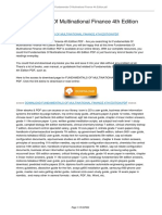 Fundamentals of Multinational Finance 4th Edition