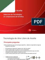 Aire Libre de Aceite Seleccion de Tecnologias en Compresores de Tornillos 0 0