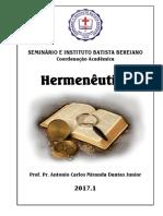 Apostila Hermenêutica 2017A - Professor