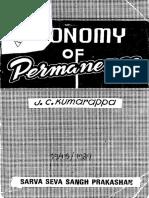 Economy of Permanence - J.C.kumarappa