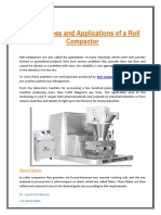 The Process and Applications of a Roll Compactor