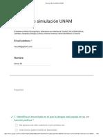 Simulación Examen UNAM