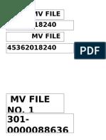 MV File Number