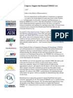 AFP Financial CHOICE Act Coalition Letter