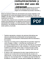 LAS TELECOMUNICACIONES Y MANIFESTACIONES DE USO