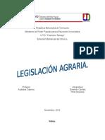 Trabajo Legislación Agraria