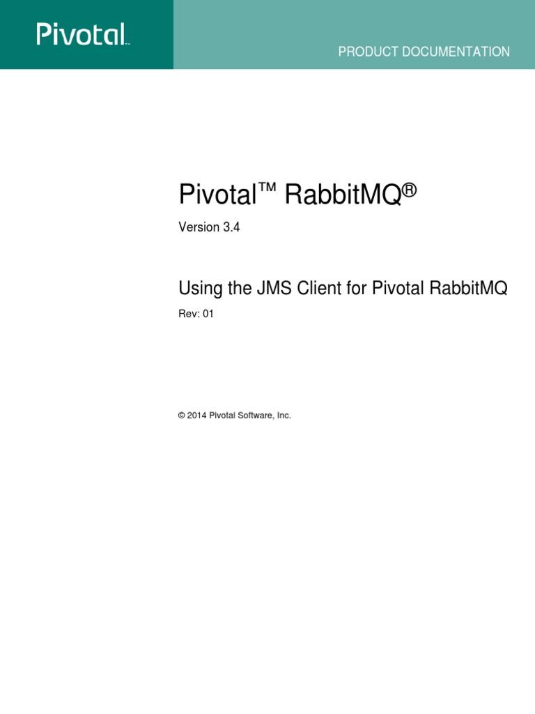 Pivotal Rabbitmq Jms Client | Application Programming Interface