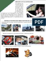 Precauciones al conducir