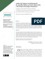 Análise Dos Esforços de Modernização Do Aparelho Militar No Brasil, China, Índia e Dos Projetos Estratégicos Brasileiros