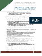 5tarea Capítulo 3 Preguntas de El Proceso de Preparacion y Evaluacion de Proyectos