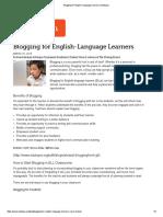blogging for english-language learners   edutopia