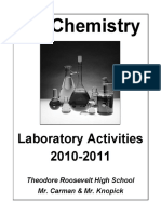 RHS CP Chemistry Lab Activities Packet 2010 2011
